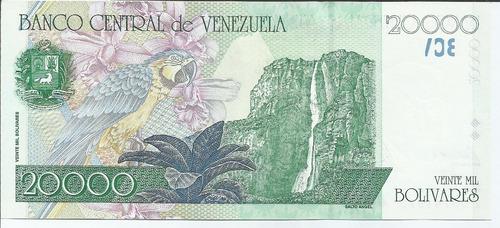 billete 20.000 bolívares. agosto 24 1998 serial z-8