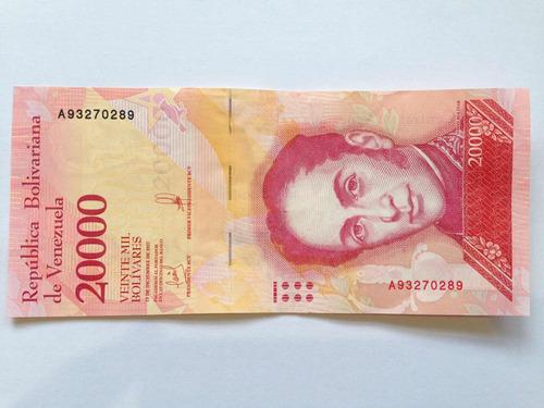 billete 20000 bolívares. cinta fina. diciembre 2017