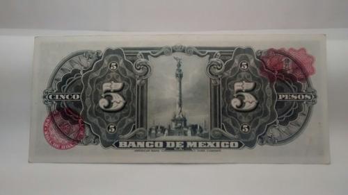 billete 5 pesos 1954 + envío gratis