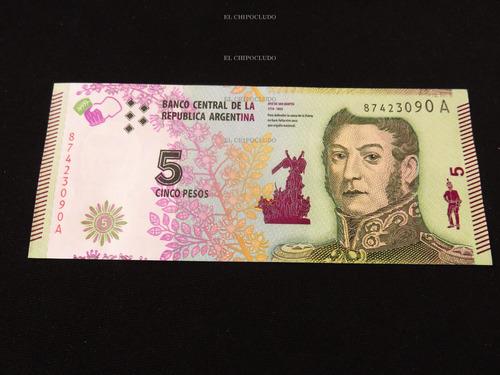 billete 5 pesos argentina jose martin nuevo unc