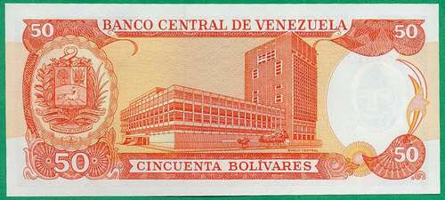 billete 50 bolívares junio 5 de 1995 serial r8  au/ sc