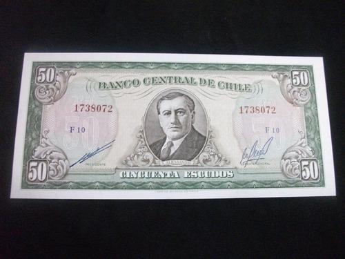 billete 50 escudos (arturo alessandri padre)impecable estado