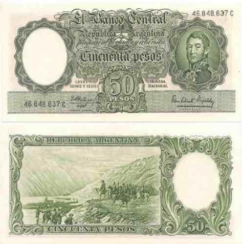 billete 50 pesos moneda nacional bottero 2014 sin circular