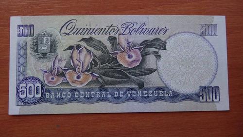 billete 500 bolívares mayo 1990 muestra sin serial orquídea