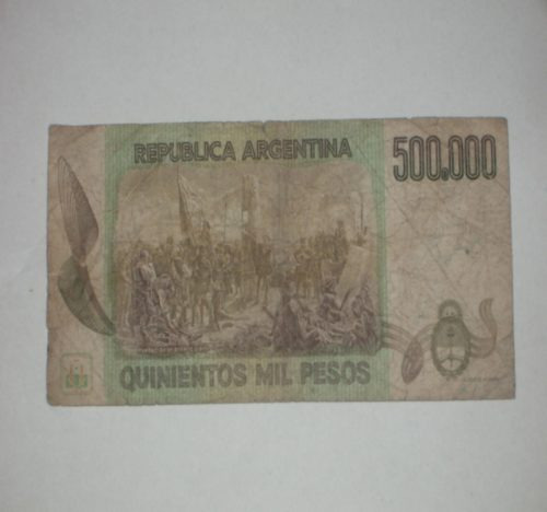 billete 500 mil pesos serie a..
