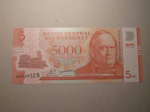 billete 5000 guaranies 2011 paraguay polimero - vp