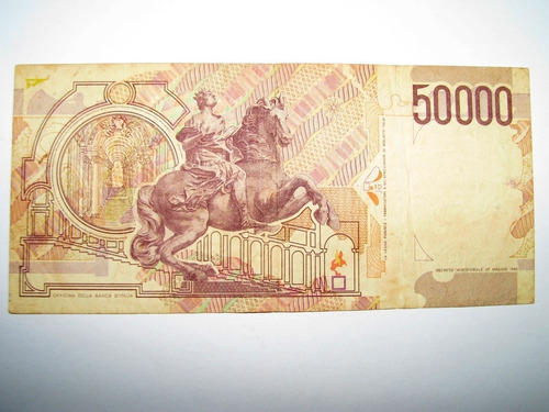 billete 50000 liras italianas 1992 f de coleccion