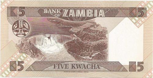 billete africano de zambia