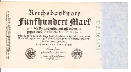billete aleman 1922