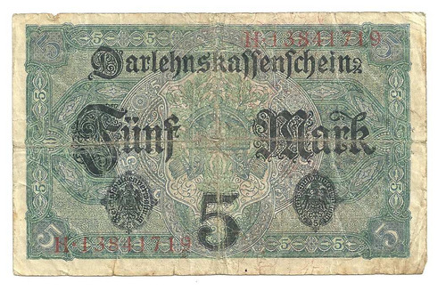 billete alemania 5 marcos (1917)