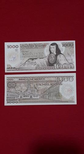 billete antiguo  1000 sor juana variacion  tintero