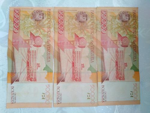 billete antiguo de 50 mil bolivares 1a emisión 24/8/1998