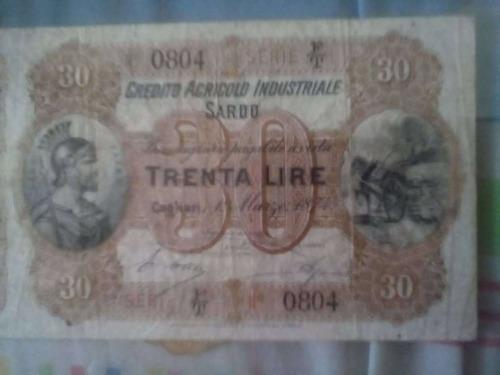 billete antiguo de italia 1 de marzo 1847