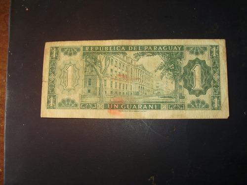 billete antiguo de un guaraní