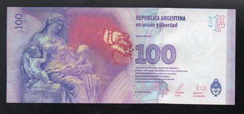billete argentina 100 pesos evita serie t sin circular