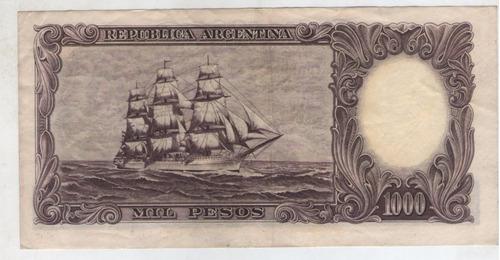 billete argentina $1000 b,1955. colo 528b xf