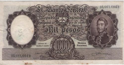 billete argentina $1000 b.1959 colo 531d  vf+