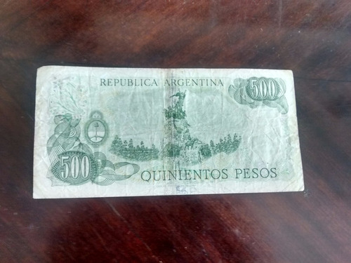 billete argentina 500 pesos