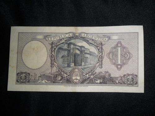 billete argentino un peso moneda nacional serie d
