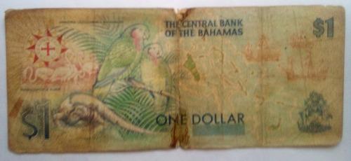 billete bahamas conmemorativo 1 dollar 1992 p#50a.