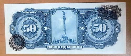 billete banco de méxico $50 pesos 1959  a ignacio  allende