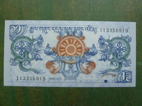 billete bhutan 1 ngultrum 2013 - vp