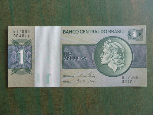 billete brasil 1 cruzeiro unc - vp