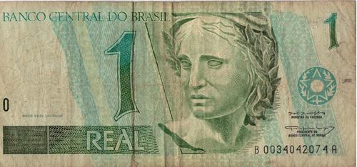 billete brasil 1 real bueno-regular
