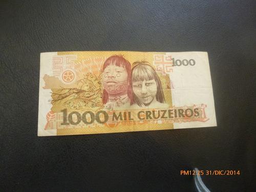 billete brasil  1000 cruzeiros (c10-3