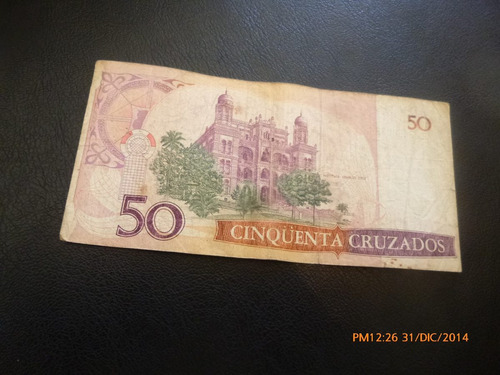 billete brasil  50 cruzados -oswaldo cruz (c7-4