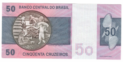 billete brasil 50 cruzeiros (1980) embarque de cafe