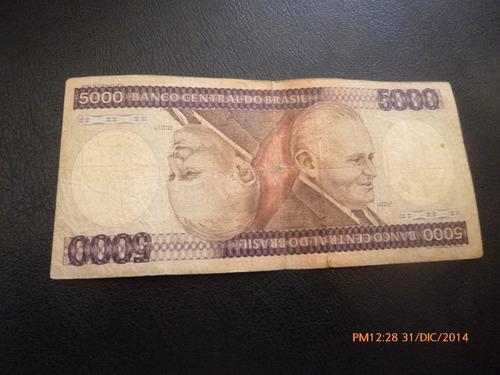 billete brasil -5000 cruzeiros