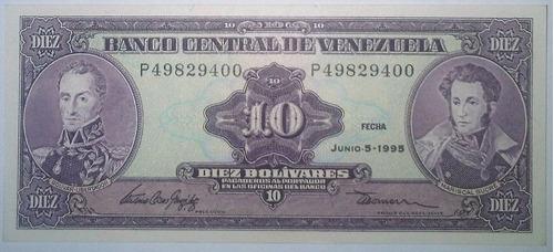 billete bs. 10 05/06/1995 serial p49829400 (au)