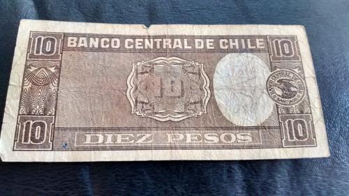 billete chile 10 pesos 12-11-1941  oyarzun meyerholz (c-36-3