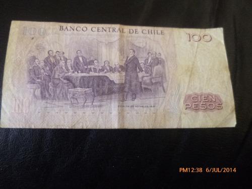 billete chile 100 pesos 1984 - ibañez   - molina (c-3-2
