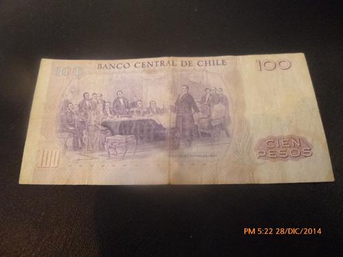 billete chile 100 pesos 1984 -ibañez  molina (c-36-10