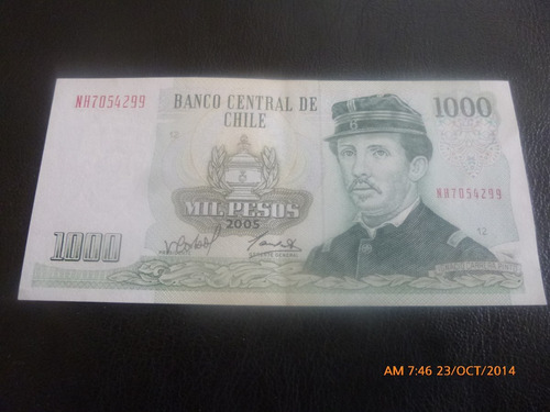billete chile 1000 pesos 2005 corbo carrasco (c-32-2