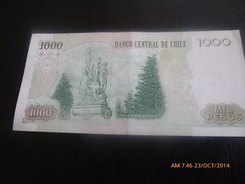 billete chile 1000 pesos -2005 corbo -- carrasco (c-32-3
