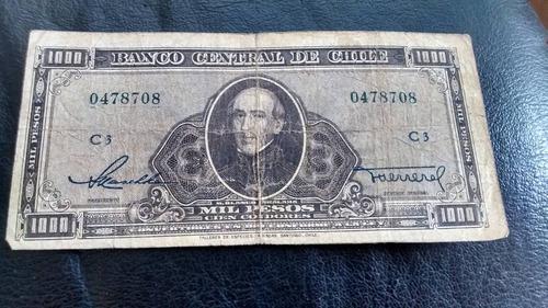 billete chile 1000 pesos maschke herrera sin remarcar(c-36-1