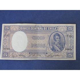 Billete Chile 5 Pesos Fechado  3 - Vii - 1946   Muy Escaso