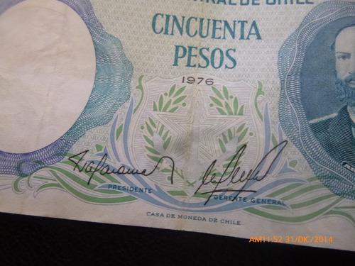 billete chile 50 pesos barahona molina  1976 (34-6