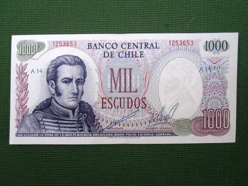 billete chileno 1000 escudos periodo 1962-1975
