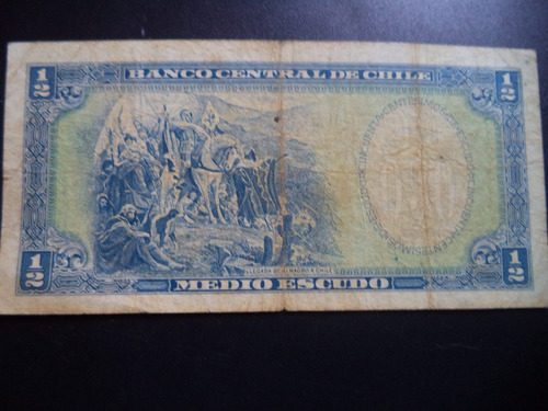 billete chileno medio escudo mackenna ibañez