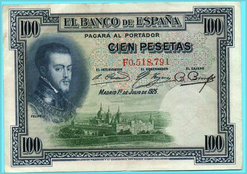 billete cien pesetas - españa.