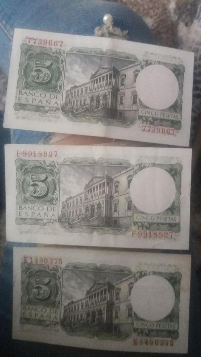 Billete Cinco Pesetas Banco De España 1954 - S/ 24,00