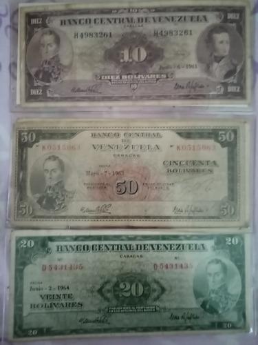 billete colección del recuerdo venezolano del año 1960
