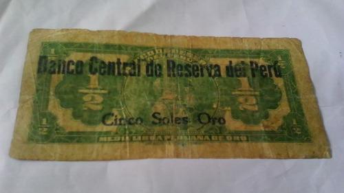billete coleccion media libra peruana raro!