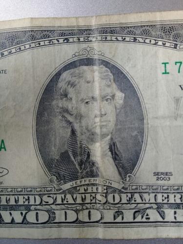 billete coleccionable escaso de 2 americanos