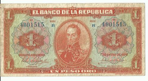 billete colombia 1 peso 1926