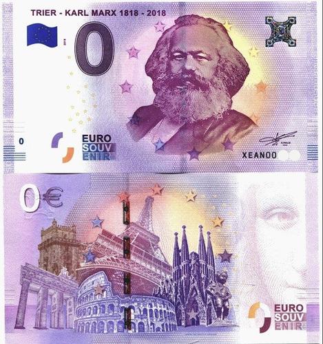 billete conmemorativo - karl marx - 0 euros - disponibles!.